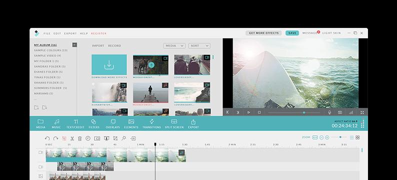 logiciel montage vidéo Filmora ui-light